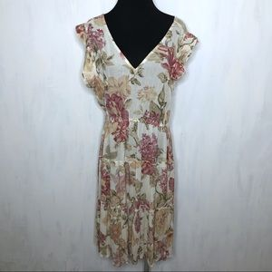 FRYE x Anthropologie Luna Tiered Floral Dress M